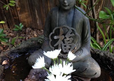 budda with flowers